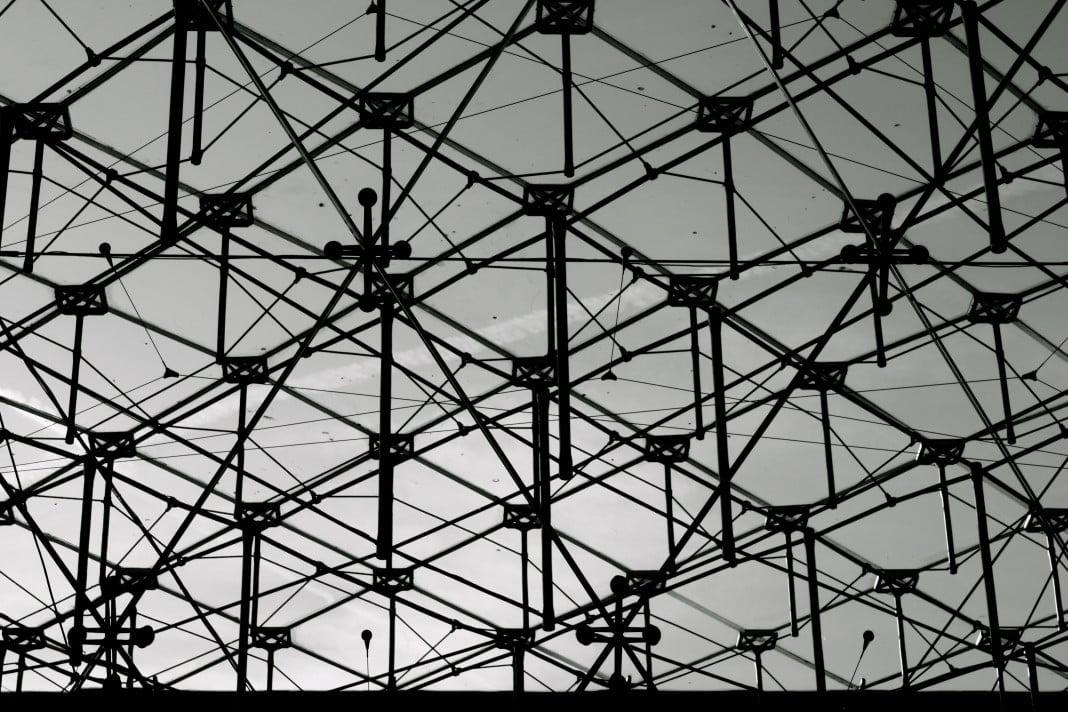 Architecture de la grande pyramide du Louvre. Pei.