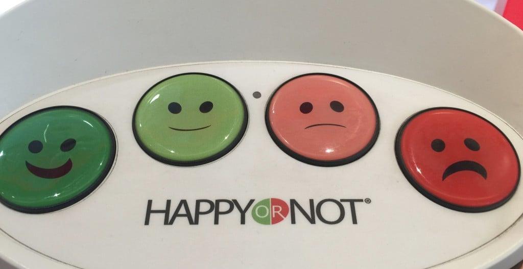 Sondage Happy or Not dans les points de ventes