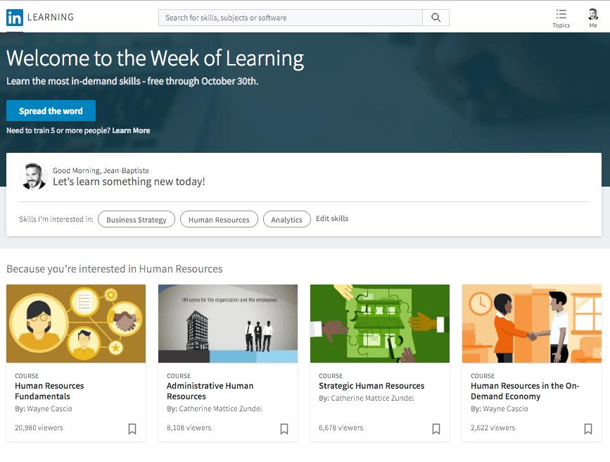Linkedin Learning FutursTalents blog 2016