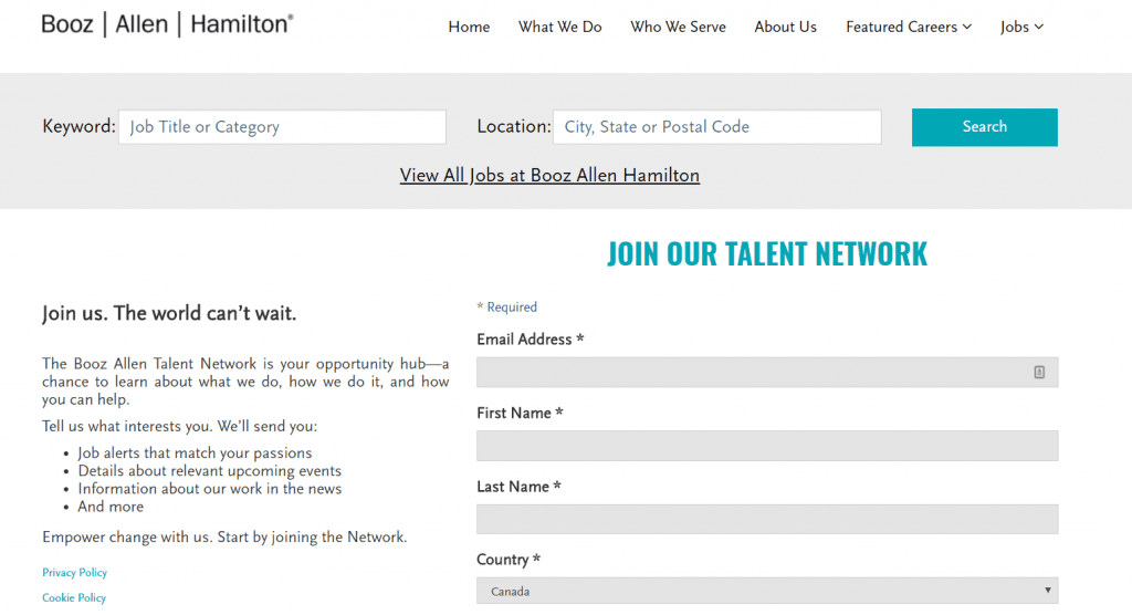 Booz Allen Hamilton_Talent Community_Join